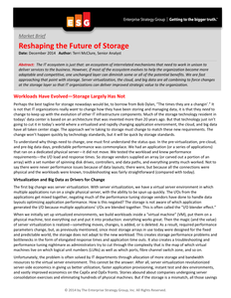 Reshaping the Future of Storage
