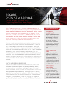 Secure Data as a Service