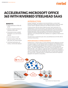Accelerating Microsoft Office 365 with Riverbed Steelhead SAAS