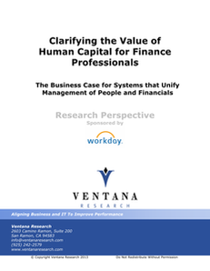 Clarifying the Value of Human Capital for Finance Professionals