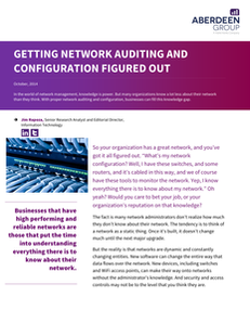 Getting Network Auditing and Configuration Figured Out