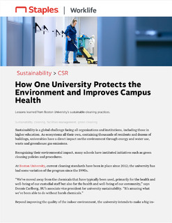 How One University Protects the Environment and Improves Campus Health