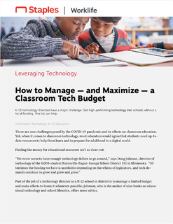 How to Manage – and Maximize – a Classroom Tech Budget