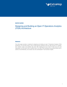 Designing and Building an Open IT Operations Analytics (ITOA) Architecture