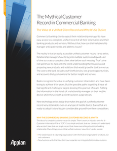 The Mythical Customer Record in Commercial Banking