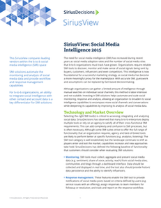 SiriusView: Social Media Intelligence 2015