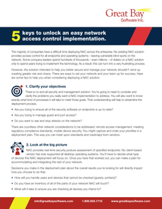5 Keys to Unlock an Easy Network Access Control Implementation