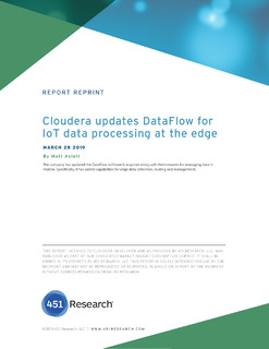 451 Research: Cloudera updates DataFlow for IoT data processing at the edge