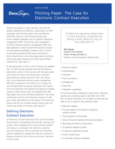 Pitching Paper: The Case for Electronic Contract Execution