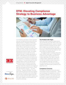 DTM: Elevating Compliance Strategy to Business Advantage