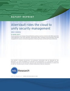 451 Research Report: AlienVault USM Anywhere