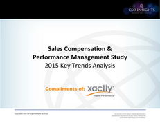 Sales Compensation & Performance Management Study:  2015 Key Trends Analysis
