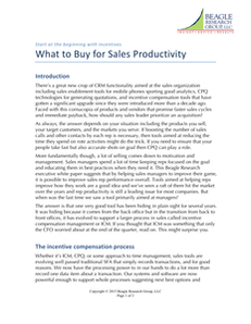 What to Buy for Sales Productivity