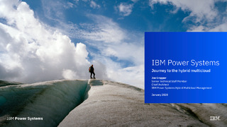 IBM Power Systems Journey to the hybrid multicloud