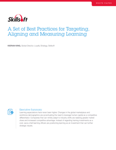 A Set of Best Practices for Targeting, Aligning and Measuring Learning
