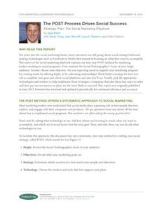 Free Forrester Report – 4 Steps to Social Success