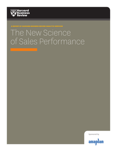 The New Science of Sales Performance