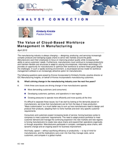 The Value of Cloud-Based Workforce Management in Manufacturing
