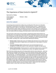 IDC: The Importance of Data Control in Hybrid IT