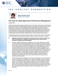 IDC: The Case for SaaS Application Performance Management