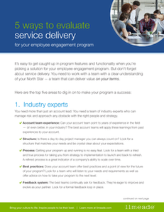 When Assessing Your Employee Engagement Platform, Don't Forget Service Delivery: 5 Tips