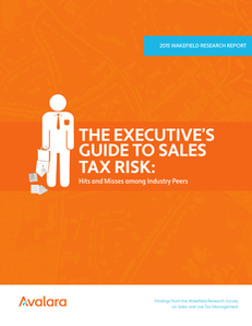 The Executive Guide to Sales Tax Risk: Hits and Misses among Industry Peers