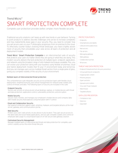 Smart Protection Complete: Complete User Protection Provides Better, Simpler, More Flexible Security