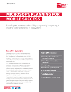 Planning for Mobile Success