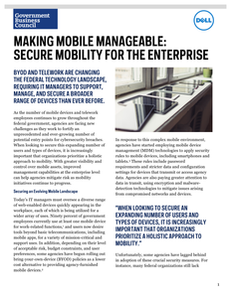 Making Mobile Manageable: Secure Mobility for the Enterprise