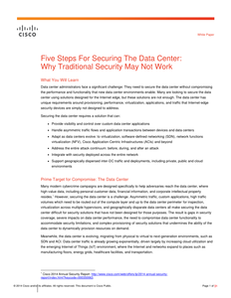 Five Steps for Securing the Data Center