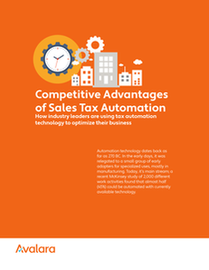 Competitive Advantage of Sales Tax Automation