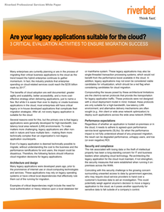 3 Critical Legacy Application Evaluation Activities to Ensure Cloud Migration Success