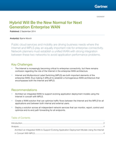 Hybrid Will Be the New Normal for Next Generation Enterprise WAN