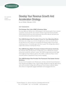 Develop Your Revenue Growth And Acceleration Strategy