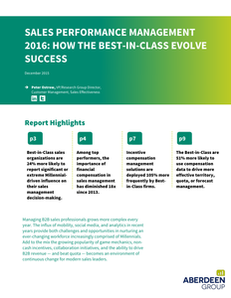 Sales Performance Management 2016: How the Best-in-Class Evolve Success