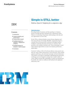 Simple is STILL Better: Embrace Speed & Simplicity for a Competitive Edge