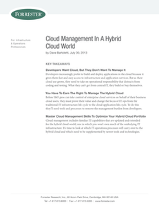 Cloud Management in a Hybrid Cloud World