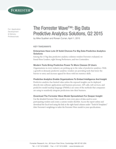 The Forrester Wave: Big Data Predictive Analytics Solutions