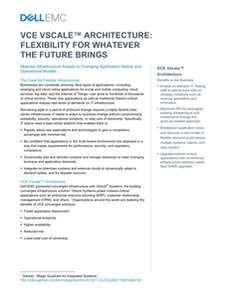 VCE Vscale Architecture: Flexibility for Whatever the Future Brings