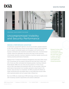 Uncompromised Visibility and Security Performance