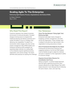 Scaling Agile to The Enterprise