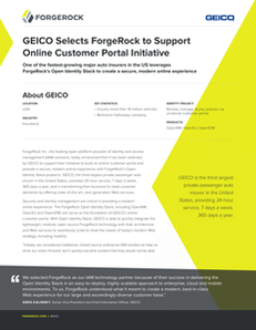 GEICO Selects ForgeRock to Support Online Customer Portal Initiative