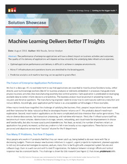ESG white paper: Machine Learning Delivers Better Insights