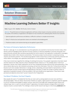 Machine Learning Delivers Better IT Insights
