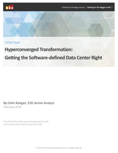 Hyperconverged Transformation: Getting the Software-defined Data Center Right
