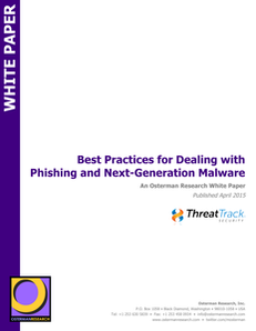 Best Practices for Dealing with Phishing and Next-Generation Malware