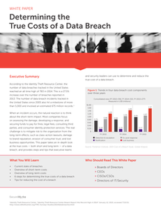 Determining the True Cost of a Data Breach