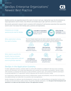 DevOps: Enterprise Organizations Newest Best Practices
