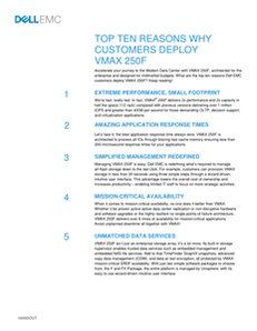 Top 10 Reasons Why Customers Deploy VMAX 250F