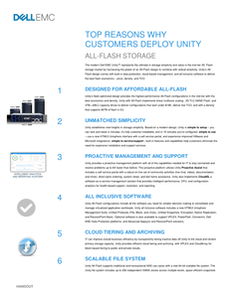 Top Reasons Why Customers Deploy Unity